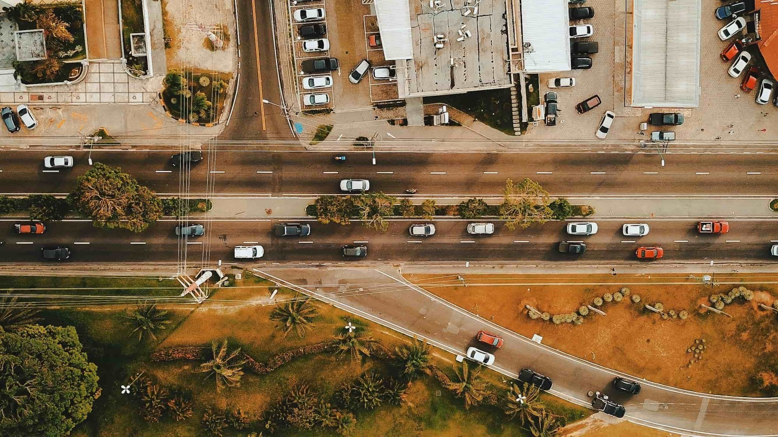 overhead view of street